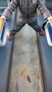 Großartige Fußbodendeko in unserem Waggon