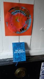 Buch vor Kamin